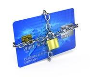 Credit card security. 3d render Stock Photos