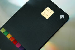 Credit card security chip Stock Image