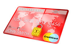 Credit Card with Security Chip as Padlock Royalty Free Stock Images