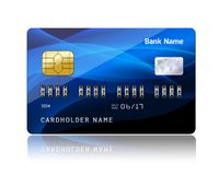 Credit card with security combination code Royalty Free Stock Photos