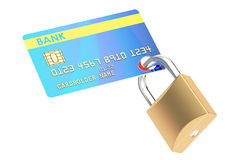 Credit Card Security concept, 3D rendering. Isolated on white background Royalty Free Stock Image
