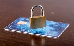 Credit card security concept Stock Photos