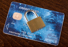 Credit card security concept Stock Photo