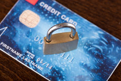 Credit card security concept Royalty Free Stock Image
