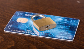 Credit card security concept Stock Images