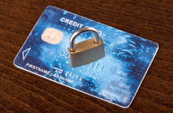 Credit card security concept Royalty Free Stock Photography