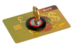 Credit card security concept. On white background Royalty Free Stock Image