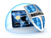 Credit card and security Royalty Free Stock Images
