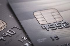 Credit card. Selective focus. For financial, Sale-Buy or busines Royalty Free Stock Photography