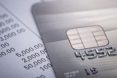 Credit card. Selective focus. For financial, Sale-Buy or busines Stock Photo