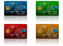 Credit Card Set Stock Photo