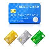 Credit Card Set. Vector illustration Stock Images