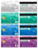 Credit card set Stock Image