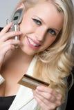 Credit Card Shopper Stock Photos