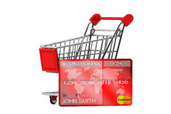 Credit card with Shopping Cart Stock Image