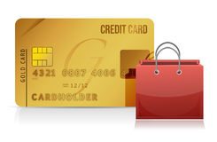 Credit card shopping concept Stock Images