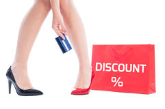 Credit card shopping discount Royalty Free Stock Images