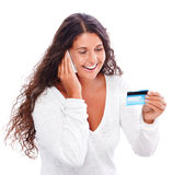 Credit card shopping Stock Photos