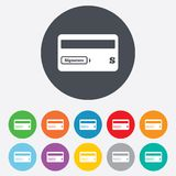 Credit card sign icon. Debit card symbol. Royalty Free Stock Photo