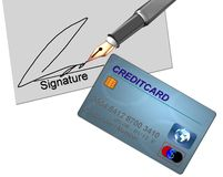 Credit Card Signature Stock Photography