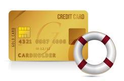 Credit card sos lifesaver illustration Stock Images