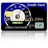 Credit card  speedometer Royalty Free Stock Image