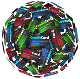 Credit Card Sphere Borrow Money Pay Loan Stock Photos