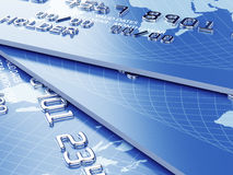 Credit card stack background Royalty Free Stock Photos