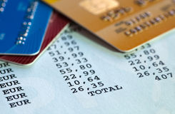 Credit card statement Royalty Free Stock Images
