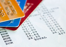 Credit card statement Stock Images