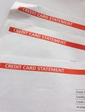 Credit Card Statements Royalty Free Stock Photography
