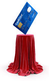 Credit Card on Table (clipping path included) Royalty Free Stock Photography