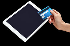 Credit card and tablet pc device Stock Photography