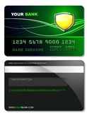 Credit Card Template Royalty Free Stock Photo