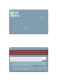 Credit card template Royalty Free Stock Photography