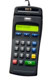 Credit Card Terminal. Isolated credit card terminal Royalty Free Stock Photography