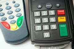 Credit card terminal. Stock Images
