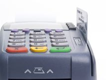 Credit card terminal. (POS-terminal) for payment Royalty Free Stock Photography