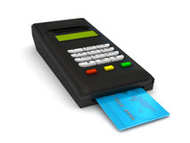 Free Credit Card Terminal Over White Stock Photos - 14802303