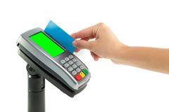 Credit card terminal Stock Image