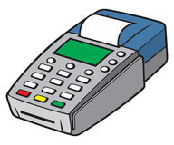 Credit card terminal. POS terminal, payment machine, credit card machine Stock Image