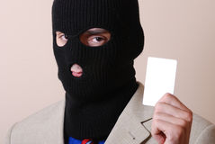 Credit card thief Royalty Free Stock Image