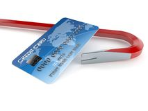 Credit card thieft concept Royalty Free Stock Image