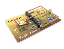 Credit card trap Royalty Free Stock Photography