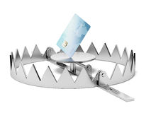 Credit card in the trap Royalty Free Stock Images