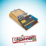 Credit Card Trap, Predatory Lending concept. Credit Card Trap, Predatory Lending concept -  illusttration Stock Photography