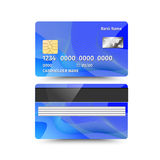 Credit card two sides with Abstract design. Vector illustration Stock Photo