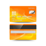 Credit card two sides with Abstract design. Vector illustration Royalty Free Stock Image