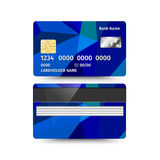 Credit Card two sides with Abstract design. Vector illustration Royalty Free Stock Photography