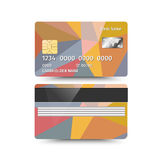 Credit Card two sides with Abstract design. Vector illustration Royalty Free Stock Images